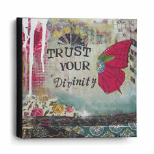 Trust Your Divinity Wall Art Canvas Kelly Rae Roberts Picture Demdaco 6""