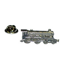 Steam Locomotive Train Pewter Lapel Pin Badge Gifts For Him