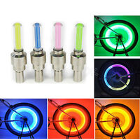 4x LED Lamp Flash Tyre Wheel Valve Cap Light For Car Bike Bicycle Motorbicycle