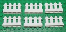 Lego White Fence  1x4 6 pieces NEW!!!