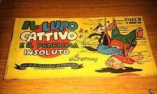 GLI ALBI TASCABILI DI TOPOLINO # 134-IL LUPO CATTIVO E IL PROBLEMA INSOLUTO-1951