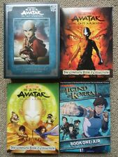 Avatar Last Airbender Collector's edition book 1-3 + Legend of Korra book 1 DVD