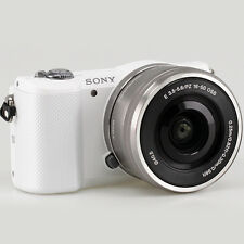 Sony Alpha A5000 20.1 MP Mirrorless Digital Camera with 16-50mm Lens -White