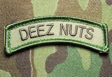 DEEZ NUTS TAB US ARMY USA ISAF MULTICAM VELCRO® BRAND FASTENER MORALE PATCH