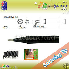 High Quality Soldering Iron Tips Real Lead Free 900M-T-1.6D Black
