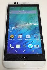 HTC Desire 510 4G LTE  White Boost Mobile Android Cracked Screen for Parts