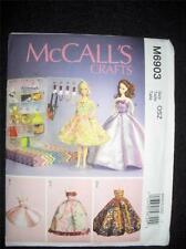 "11"" DOLL Barbie 5 Dresses Clothes NEW McCalls 6903/MP485 Pattern"