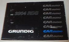 Manual de instrucciones Grunding autoradio WKC 3904 RDS