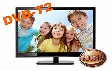 "Televisore TV LED LCD HD 19"" AKAI AKTV1912 T- DVB-T2 12 Volt  Camper Camion USB"