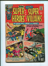 Super Heroes vs Super Villains #1 (5.5) Web, Fly Man, and Shield! 1966