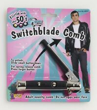 50's Switch Blade Comb 1950's Greaser TBirds  Sock Hop  Costume Accessory