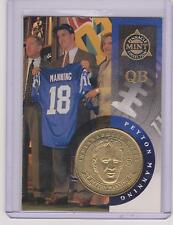 1998 PINNACLE MINT PEYTON MANNING BRASS ROOKIE COIN & DIE-CUT CARD #33 MULTIPLES