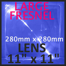 "Large RIGID Acrylic Fresnel Lens SOLAR Magnifier Oven cooker 11""x11"" 280x280mm"