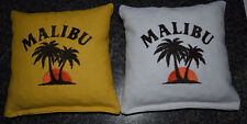 8 Embroidered Malibu Rum Cornhole Bags! Eight Quality Bags! Baggo too! Sweet!