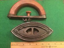 "Antique Sad Iron-COLEBROOKDALE IRON CO.* Boyertown, PA  ""1"" Wood Handle*USA"