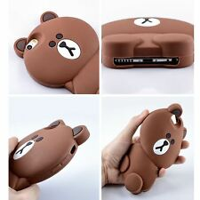 3D cartoon Line Friends bear soft silicone case cover For iphone 7 Brown Color