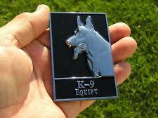 UK ~ K-9 EQUIPT CAR BADGE Metal Emblem Police Dog Squad German Shepherd Alsatian