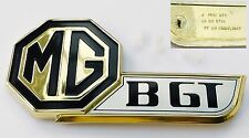 Original Fray MGBGT / MGB GT Jubilee Gold Black & Silver Boot Badge, MG HZA5021