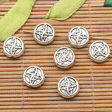 20pcs tibetan silver tone 2sided round pattern Spacer beads h0727