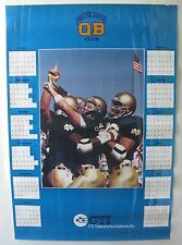 Notre Dame QB Club Calendar Poster (1980's?) CTI TELECOMMUNICATORS INC