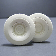 Jimmy Flintstone Resin White Wall Rat Rod Treaded tires. 1 pair - #JFW10