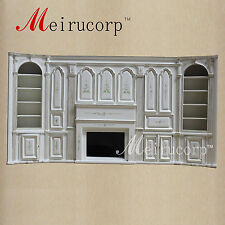 1/12 scale fine dollhouse miniature Hand painted  Fireplace display cabinet