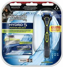 WILKINSON Sword Linea Uomo Hydro 5 Power Select LAMETTE - 5 Lame Rasoio &