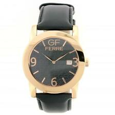 GF FERRE MEN'S WATCH JET BLACK BLACK ROSE GOLD-1