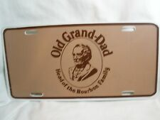 """OLD GRAND-DAD """"HEAD OF THE BOURBON FAMILY"""" LICENSE PLATE ADVERTISING"""