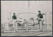 1925 BIG TEN TRACK MEET (OHIO STATE, IOWA & ILLINOIS) Vintage Photo