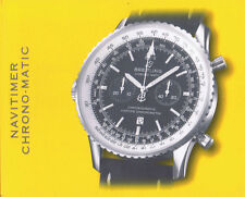 BREITLING NAVITIMER CHRONO MATIC ANLEITUNG INSTRUCTIONS I482