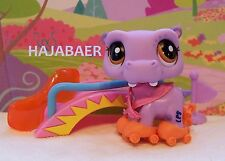Littlest Pet Shop ♥☆ LILA NILPFERD PURPLE HIPPO ACCESSOIRES  #2043 ♥☆  RAR NEU