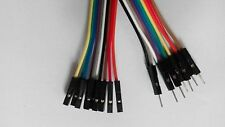 10pcs Male to Female Dupont Wire Color Jumper Cable 2.54mm 1P-1P 20cm NEW