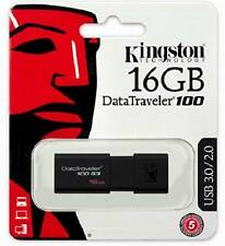 16GB Kingston DataTraveler USB 3.0 / 2.0 Flash Drive DT100G3 16 GIG Memory stick
