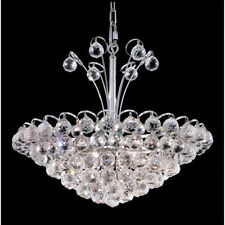 "Palace Blossom 22"" 8 Light Crystal Chandelier Light - Chrome"