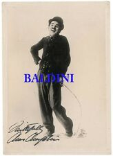 CHARLIE CHAPLIN SIGNED 10X8 PHOTO,  GREAT FILM STILL IMAGE, LOOKS GREAT FRAMED