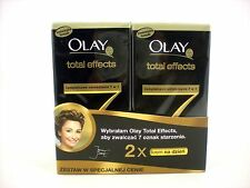 Olay Total Effects 7-in-1 Anti-aging Day Moistuiser 50ml  TWIN Pack SPF15