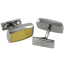 S.T. Dupont Gold and Palladium Guilloche Cufflinks, 005503, New In Box