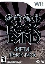 Rock Band Metal Track Pack Nintendo Wii Game  Brand New - In Stock - Fast Ship
