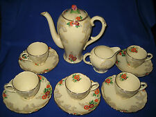 Royal Cauldon Coffee Set Art Deco Style  x980