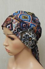 Chemo cap bonnet, hair loss head covering, cancer head scarf, easy wear scarf