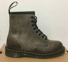 DR. MARTENS 1460 DARK  BROWN CRETA    LEATHER  BOOTS SIZE UK 4