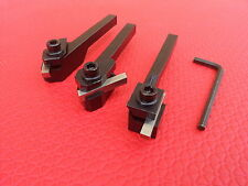 3pc Tool Steel Holders Includes HSS Bits For Lathe Milling Turning 8mm Shanks