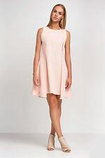 Womens Cocktail Shift Dress Sleeveless Crew Neck Mini Dress Size 8 - 14 FA427