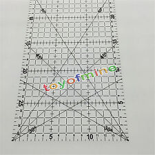 30*15cm Quilting Sewing Patchwork Foot Aligned Ruler Grid Tailor Craft Scale