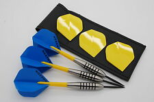 32g Tungsten dart set, John Lowe type barrels, standard flights, stems, case