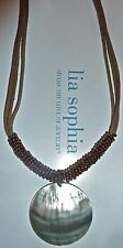 """NEW DEMO - LIA SOPHIA - """"HARVEST MOON"""" NECKLACE - GENUINE MOTHER-OF-PEARL - 2007"""