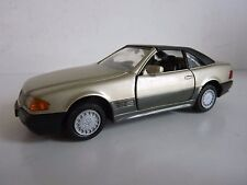GAMA 1137 MERCEDES-BENZ 300 / 500 SL  GOLD HARD TOP W GERMANY 1/43 BEG VG NO BOX