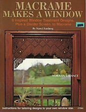 Macrame Makes a Window Treatments Curtains Instructions Patterns Book #7391