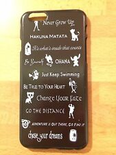 Disney Quotes Lion King, Nemo, Stitch, Peter Pan Etc Case Cover For iPhone 6/6s